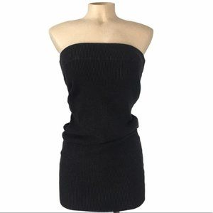 JAMES PERSE Black Rib-Knit Tube Bodycon Dress 1